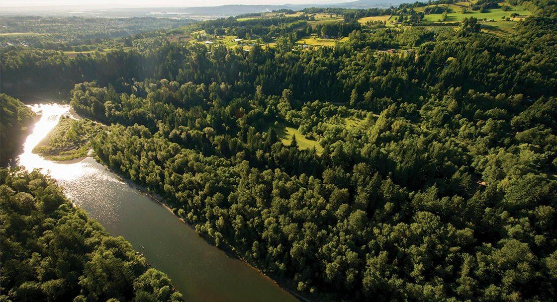 aerial photo of Oxbow Regional Park