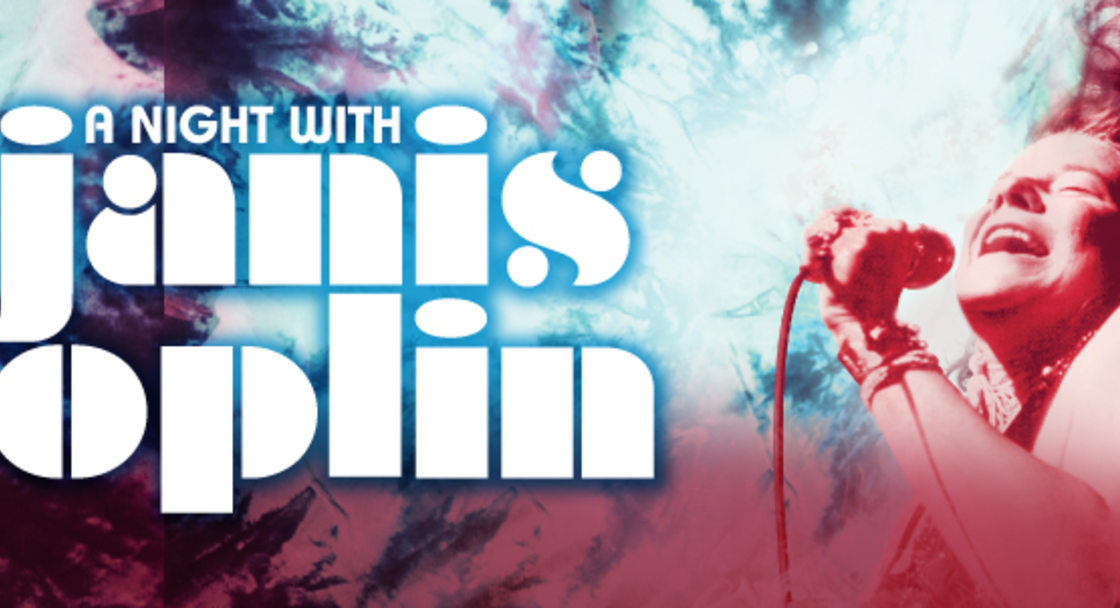 """Promotional image for """"A Night With Janis Joplin"""""""