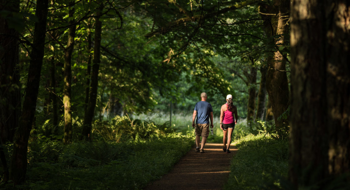 photo of walkers at Scouters Mountain Nature Park