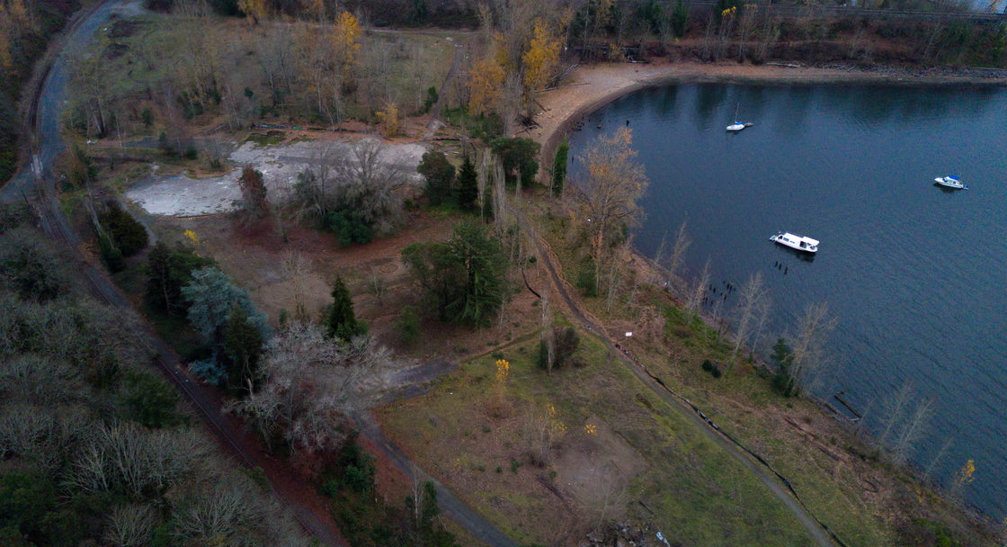 Aerial view of Willamette Cove