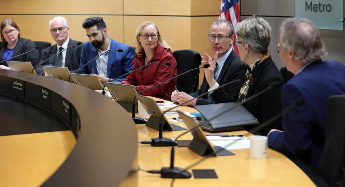 Council members discuss the regional waste plan
