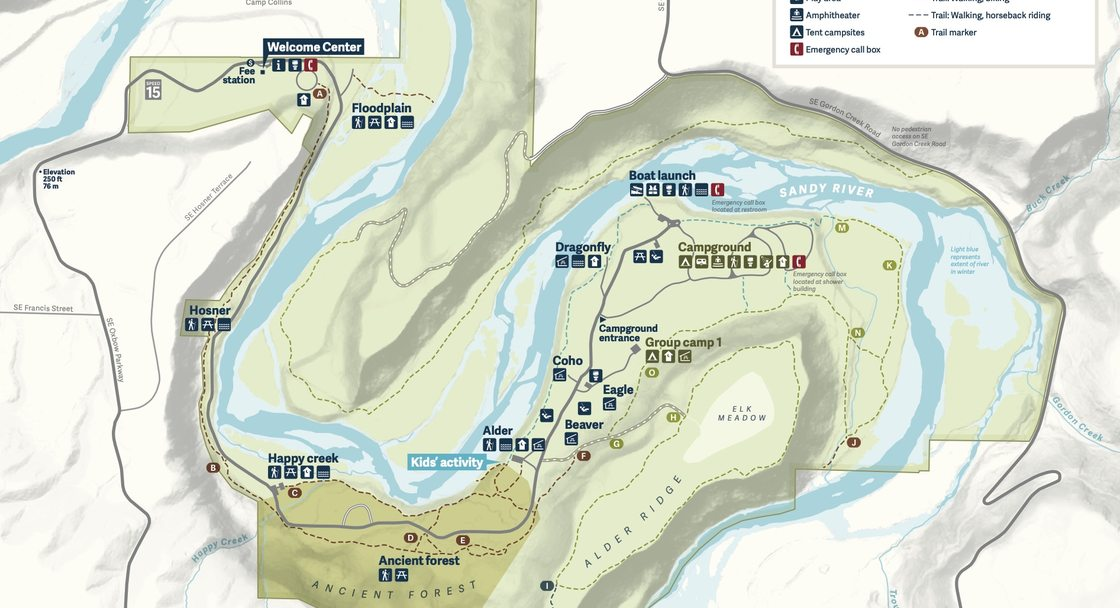 Map of Oxbow Regional Park