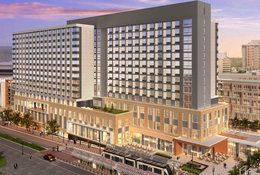 rendering of convention center hotel