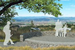 rendering of Chehalem Ridge overlook