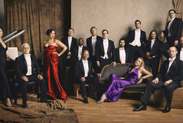 portrait of members of Pink Martini and the Oregon Symphony