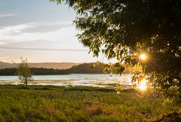 photo of sunset at Smith and Bybee Wetlands Natural Area