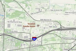 Troutdale Transfer Station facility location map