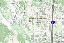 Willamette Resources Inc. location map
