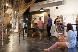 Arts enthusiasts take in the opening of GLEAN 2019