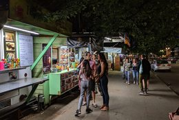 photo of food carts at Alder Street Food Cart Pod