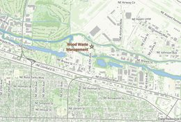 Wood Waste Management facility location map
